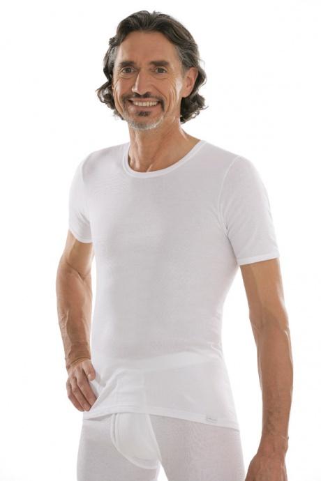 comazo|platin Unterwäsche, Unterhemd kurzarm in weiss - Vorderansicht