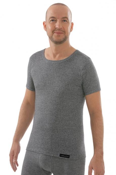 Herren Shirt graumeliert, Vorderseite