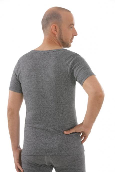 Herren Shirt graumeliert, Rückseite