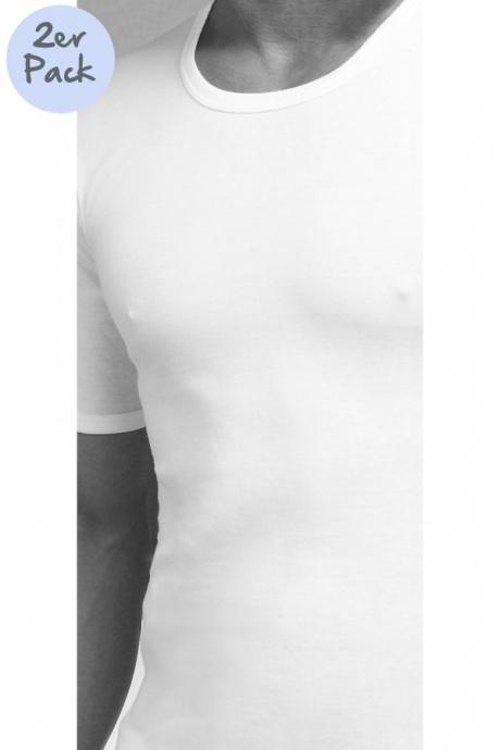 Comazo Lieblingswäsche, Shirt kurzarm für Herren in weiss