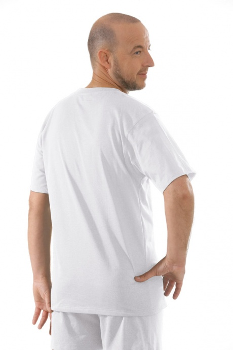 Comazo Unterwäsche, T-Shirt American Style in weiss - Rückansicht
