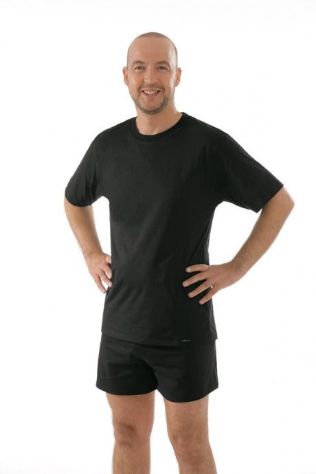 Comazo Unterwäsche, T-Shirt American Style in schwarz - Gesamtansicht