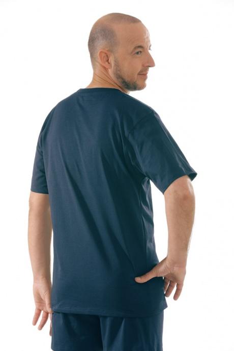 Comazo Unterwäsche, T-Shirt American Style in marine - Rückansicht