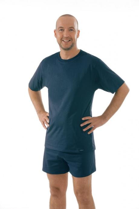 Comazo Unterwäsche, T-Shirt American Style in marine - Gesamtansicht