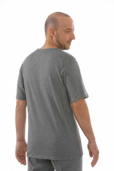 Comazo Unterwäsche, T-Shirt American Style in mittelgrau-melange - Rückansicht