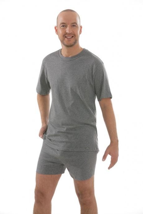 Comazo Unterwäsche, T-Shirt American Style in mittelgrau-melange - Gesamtansicht