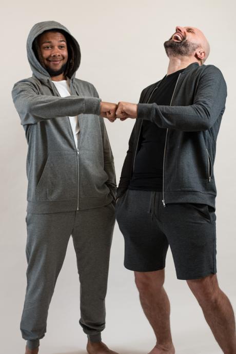 Comazo Lieblingswäsche Homewear für Herren Shorts in anthrazit-melange