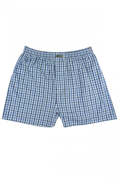 Comazo Unterwäsche Kinder Jungen Boxershorts in jeansblau/weiss