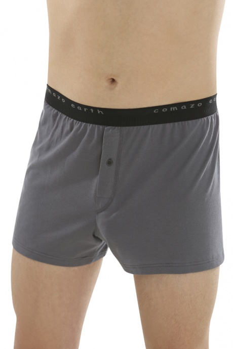 Comazo Biowäsche Fairtrade Boxer-Shorts in anthrazit - Vorderansicht