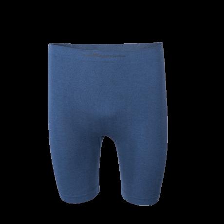 Comazo Funktionswäsche, Pants mit längerem Bein für Herren in blau-melange - Vorderansicht