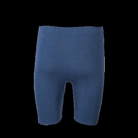 Comazo Funktionswäsche, Pants mit längerem Bein für Herren in blau-melange - Rückansicht