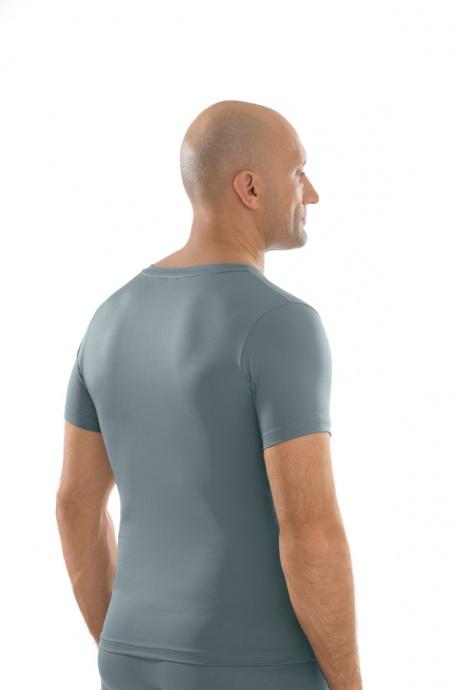 Comazo Unterwäsche, Shirt kurzarm in silber - Rückansicht