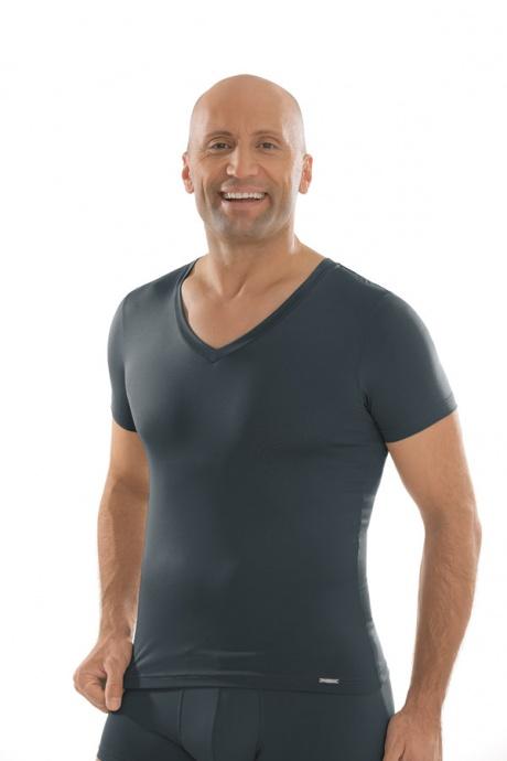 Comazo Unterwäsche, Shirt kurzarm in anthrazit - Vorderansicht