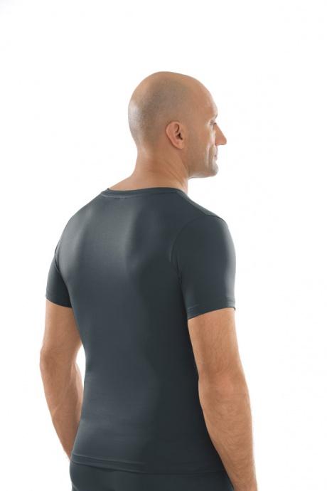 Comazo Unterwäsche, Shirt kurzarm in anthrazit - Rückansicht