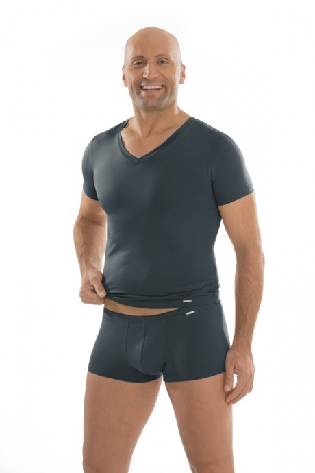 Comazo Unterwäsche, Shirt kurzarm in anthrazit - Gesamtansicht
