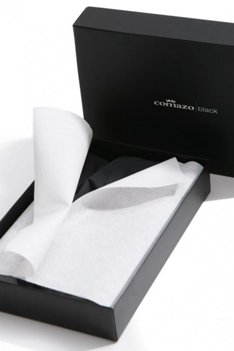 Comazo Unterwäsche, Kurzarm Shirt in schwarz - edle Verpackung