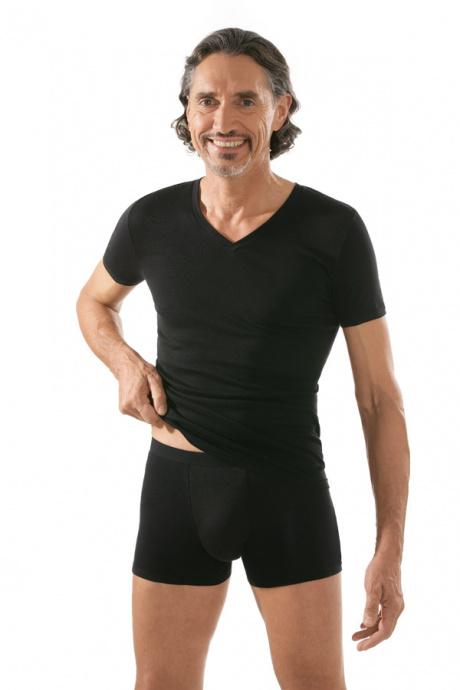 Comazo Unterwäsche, Kurzarm Shirt in schwarz - Gesamtansicht