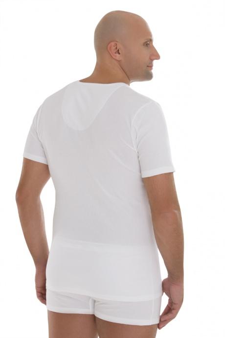 Comazo Biowäsche,Shirt mit V-Ausschnitt in weiss - Rückansicht