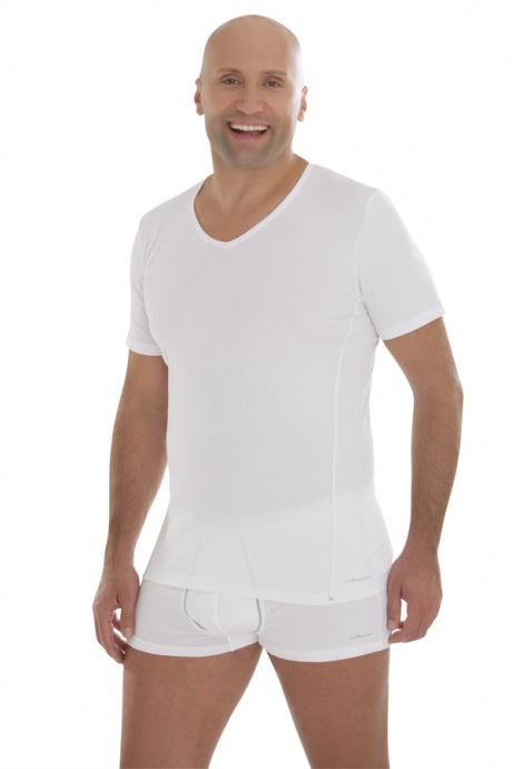 Comazo Biowäsche,Shirt mit V-Ausschnitt in weiss - Gesamtansicht