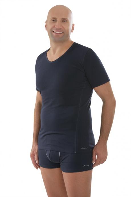 Comazo Biowäsche,Shirt mit V-Ausschnitt in navy - Gesamtansicht