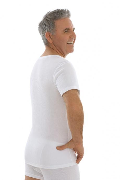 Comazo Biowäsche, Kurzarm Shirt in weiss - Rückansicht