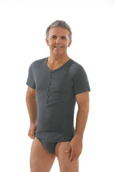 Comazo Biowäsche, Kurzarm Shirt in anthrazit - Gesamtansicht