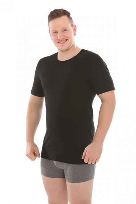 Comazo Lieblingswäsche Biowäsche Herren Shirt kurzarm in schwarz