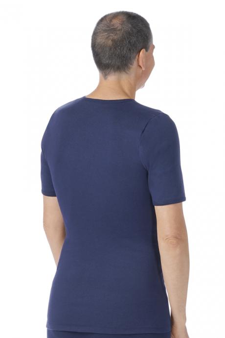 Comazo Biowäsche Herren Shirt kurzarm marine