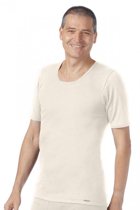 Comazo Biowäsche Herren Shirt kurzarm in bio-natur