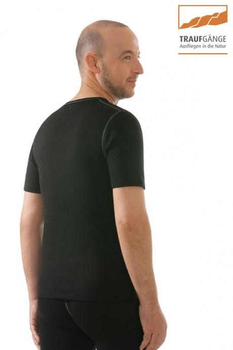 comazo|active Funktionswäsche, Kurzarm Funktionsshirt in schwarz - Rückansicht