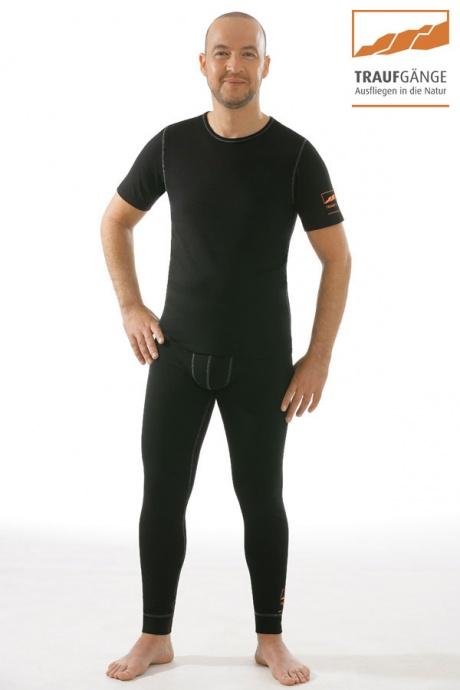 comazo|active Funktionswäsche, Kurzarm Funktionsshirt in schwarz - Gesamtansicht