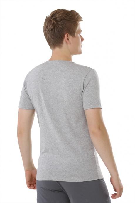 Comazo Biowäsche, Shirts für Herren in grau-melange - Rückansicht