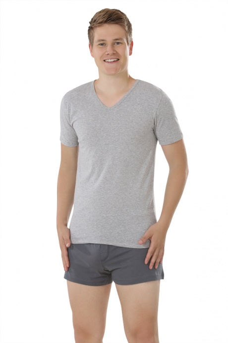 Comazo Biowäsche, Shirts für Herren in grau-melange - Gesamtansicht
