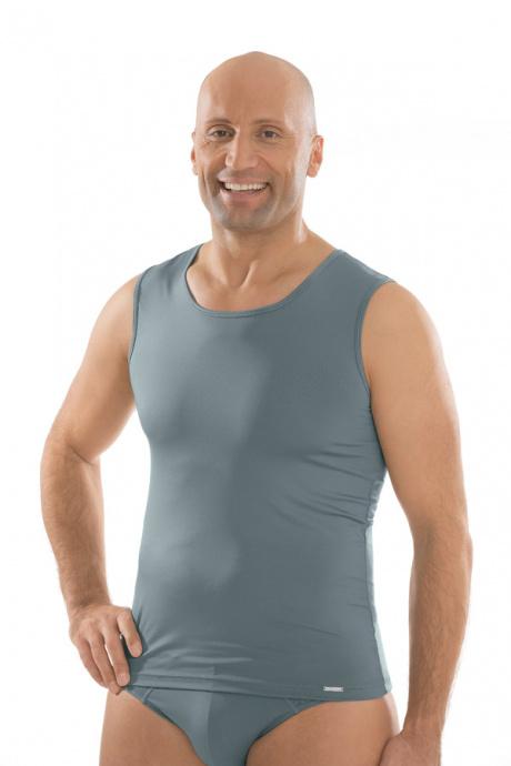 Comazo Unterwäsche, Shirt ohne Arm in silber - Vorderansicht