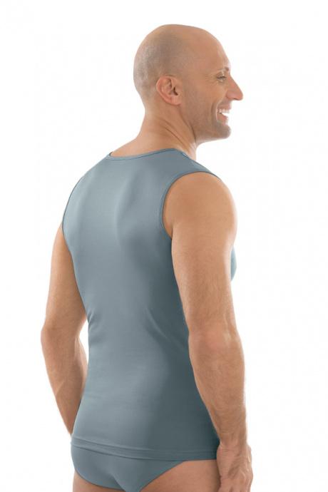 Comazo Unterwäsche, Shirt ohne Arm in silber - Rückansicht