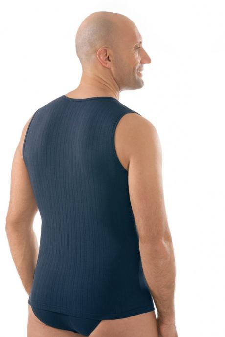 Comazo Unterwäsche, Shirt ohne Arm in navy - Rückansicht