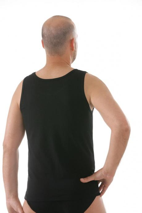 Comazo Unterwäsche, Shirt ohne Arm in schwarz - Rückansicht