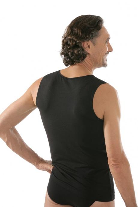 comazo|black Unterwäsche, Shirt ohne Arm in schwarz - Rückansicht