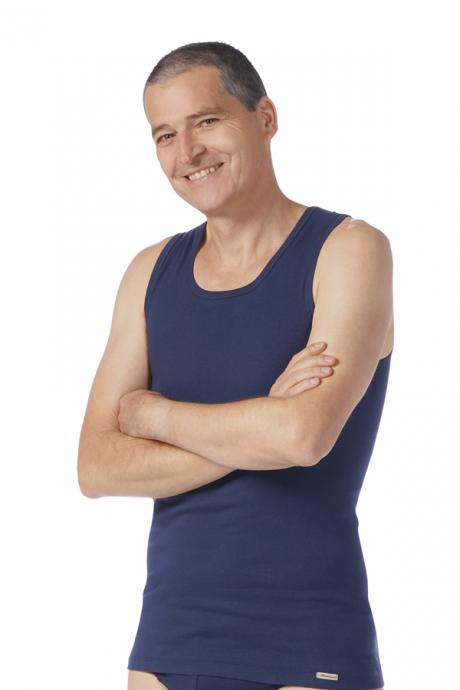 Comazo Biowäsche Herren Shirt ohne Arm in marine