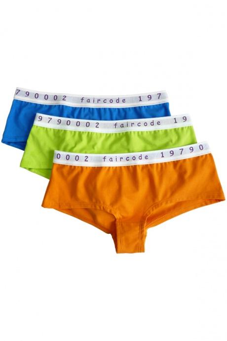 Comazo Biowäsche, Hot-Pants für Damen in blau - Gesamtansicht