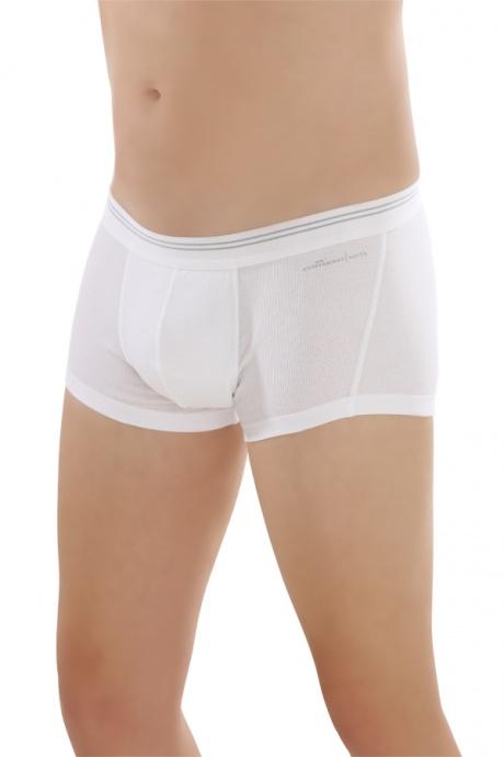 Comazo Biowäsche,Short Pants für Herren in weiss - Vorderansicht
