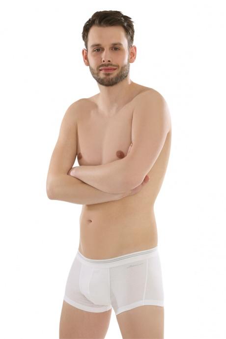Comazo Biowäsche,Short Pants für Herren in weiss - Ganzansicht