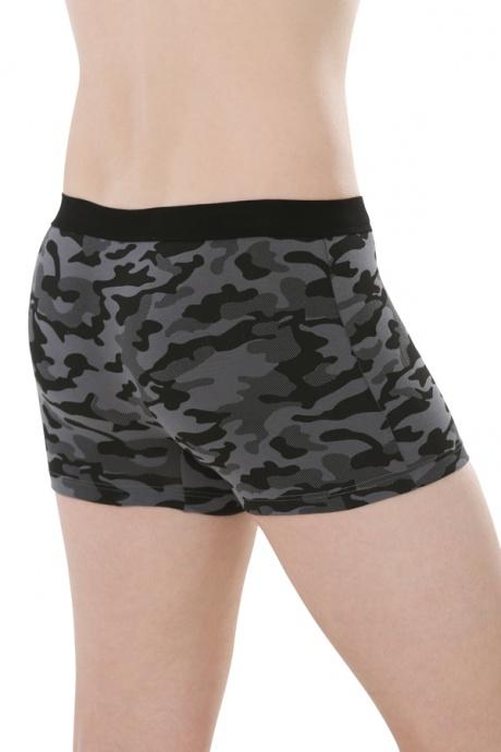 Comazo Biowäsche, Short-Pants für Männer in anthrazit - Rückansicht