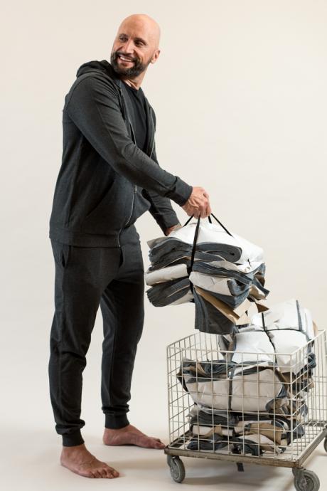 Comazo Lieblingswäsche Herren Homewear Jacke mit Kapuze in anthrazit-melange