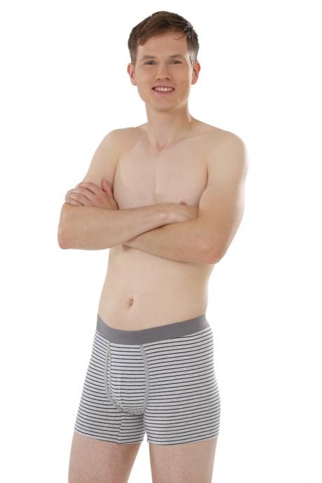 Comazo Biowäsche, Trunks für Männer in grau/navy - Ganzansicht