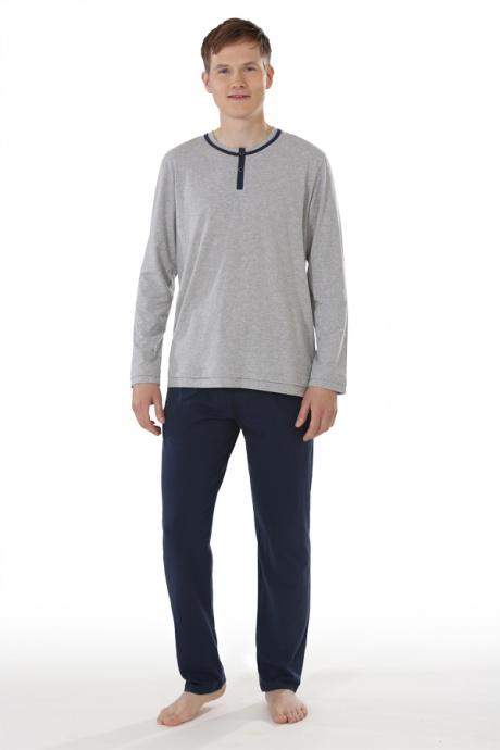 Comazo Biowäsche, Shirt langarm für Herren in grau-melange