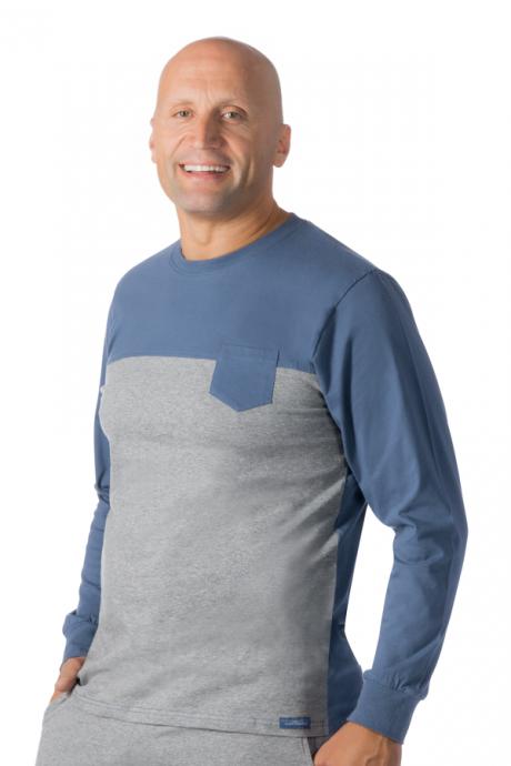 Comazo Lieblingswäsche Herren Shirt langarm in jeans