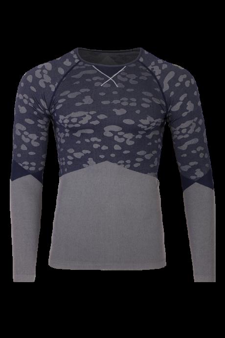Comazo Lieblingswäsche Herren Shirt langarm in dark blue / grey