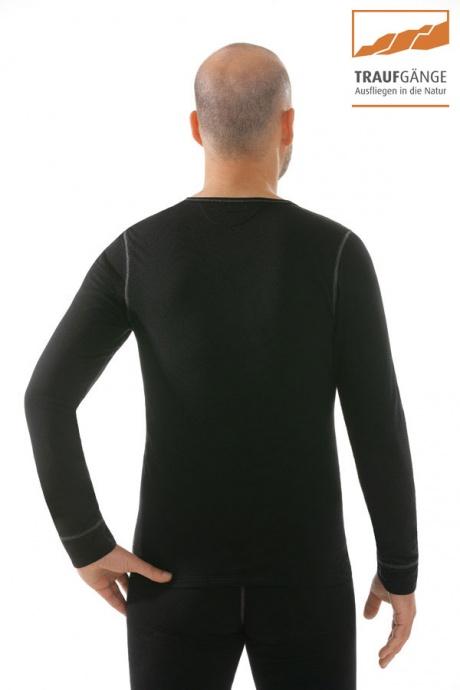 comazo|active Funktionswäsche, Langarm Funktionsshirt in schwarz - Rückansicht