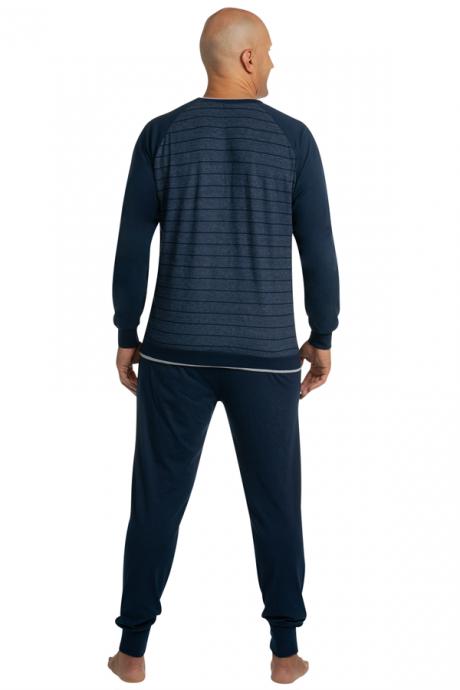 Comazo Lieblingswäsche Nachtwäsche Herren Schlafanzug in navy